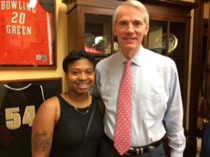 Jayla Reed and US Senator Rob Portman