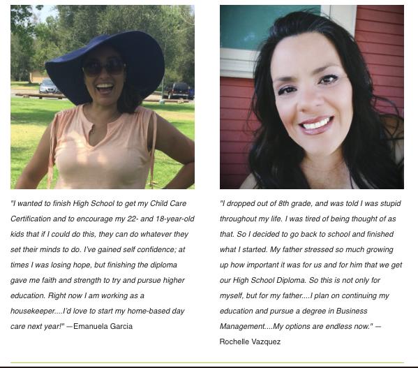 Redwood graduates of Career Online High School